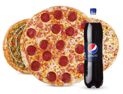 3 Пиццы & Coca-Cola 0.9l